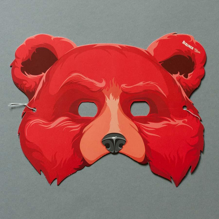 Illustration Bärenmaske
