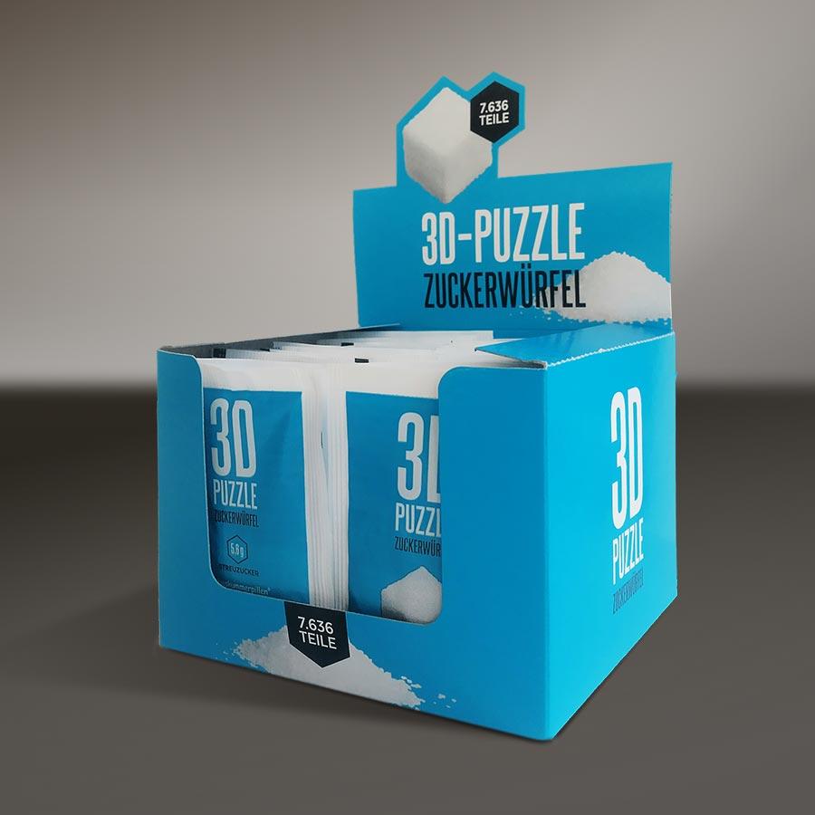 Zucker-Puzzle Display