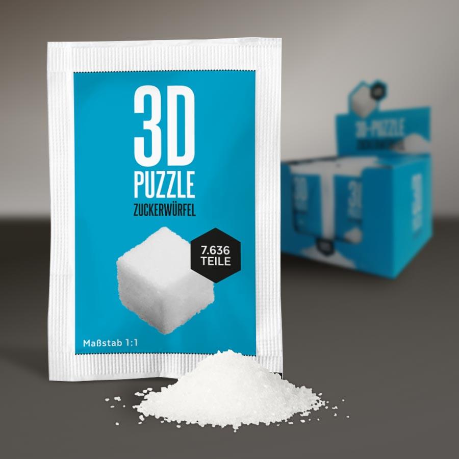 Zucker-Puzzle Verpackung